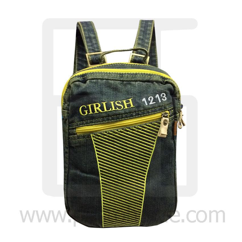 Jeans Denim Backpack, graphics pattern3, Medium Size