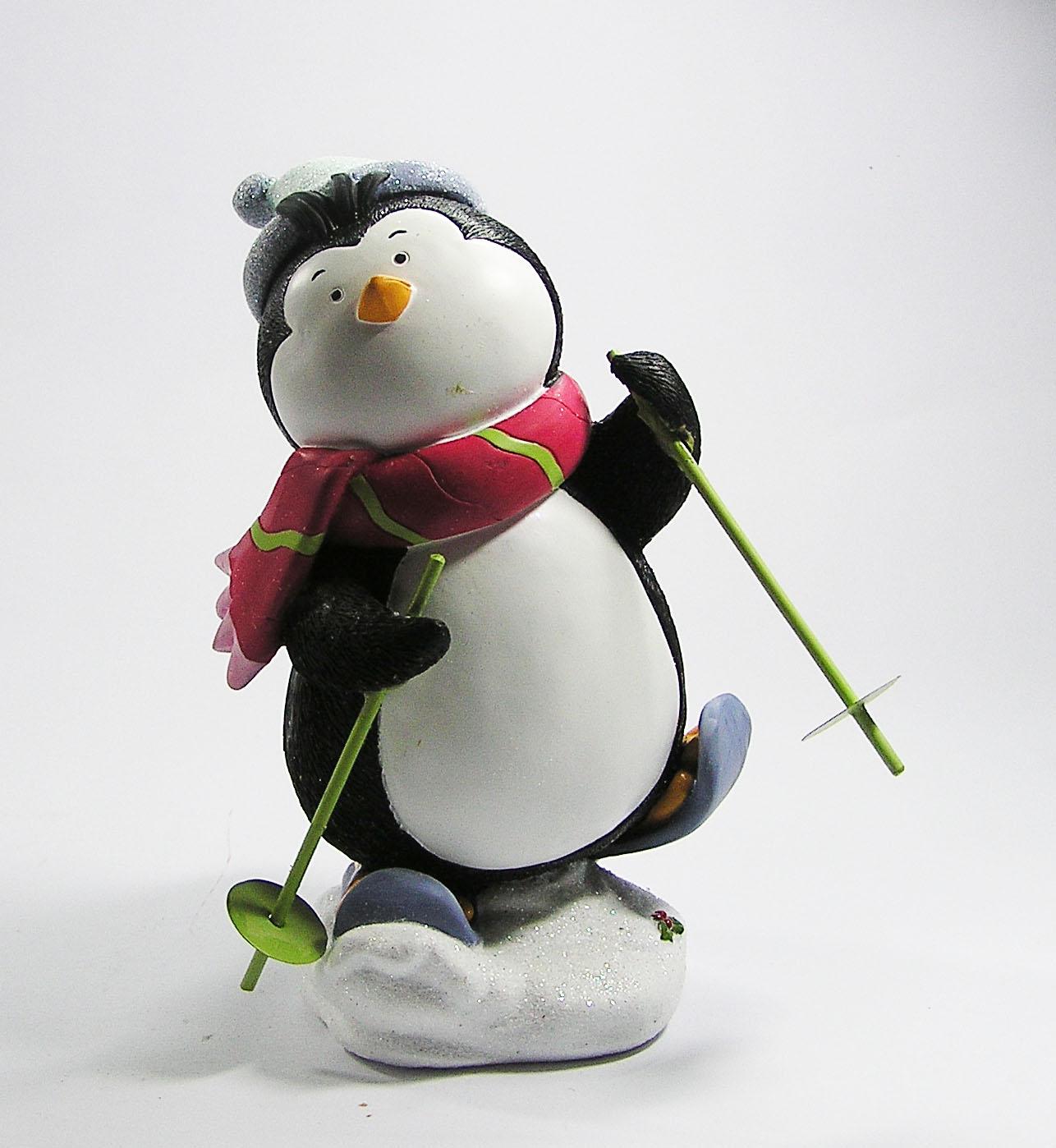 เพนกวินเล่นสกี มีให้เลือก 2 ท่า