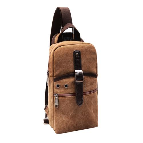 MN02 กระเป๋าคาดอกสะพายข้าง สีน้ำตาล
