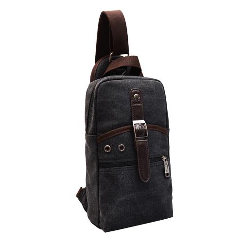 MN02 กระเป๋าคาดอกสะพายข้าง สีดำ