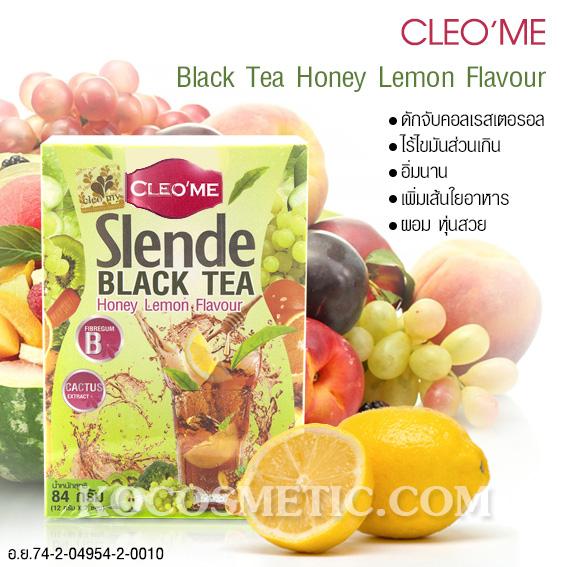ชาดำ สเลนดี กลิ่นน้ำผึ้งผสมมะนาว ตราคลีโอมี่ / Cleome Slande Black Tea Honey Lemon Flavour Cleome