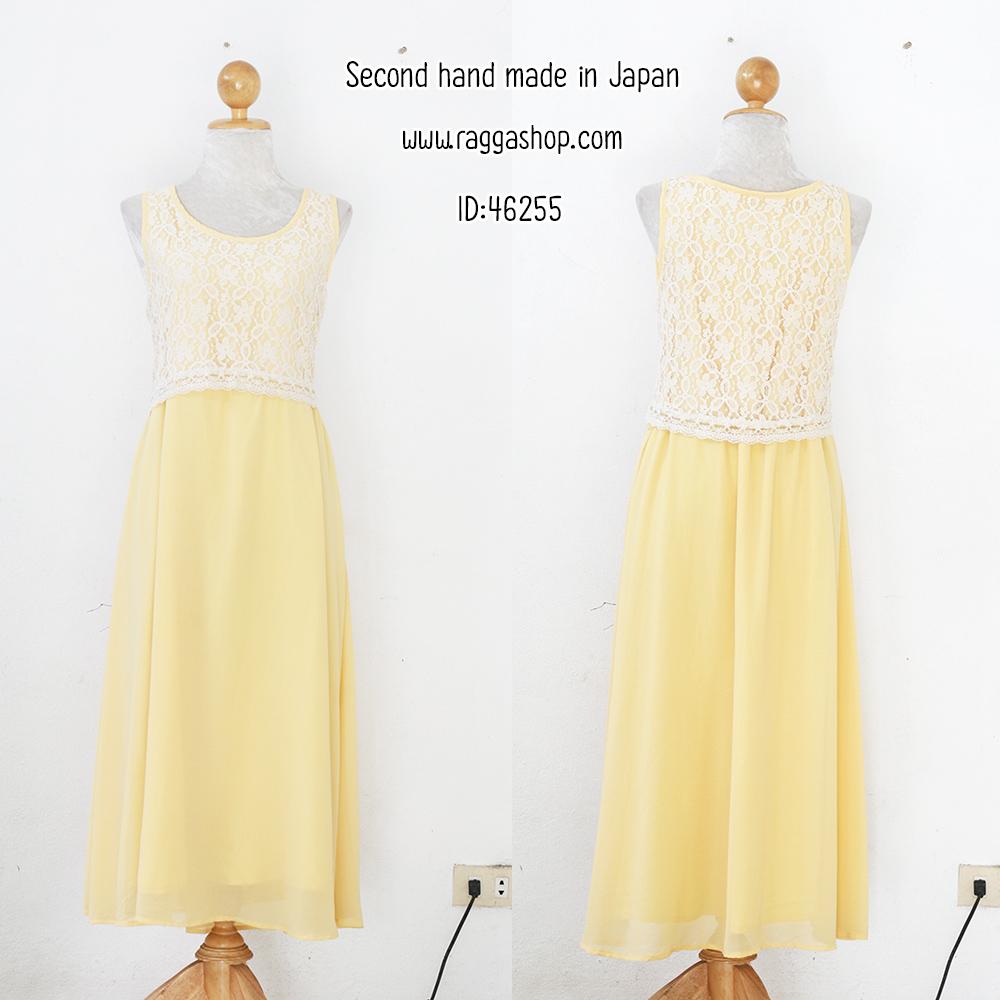 46255 36-34-40 เดรสสีเหลือง(id 6254 จองคะ)