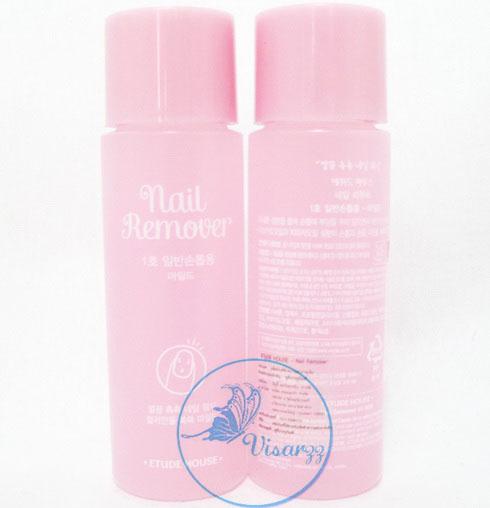 Etude Nail Remover (Mild) 100mL น้ำยาล้างเล็บสูตรอ่อนโยน ล้างสีเล็บได้สะอาดหมดจดไม่ทำให้หน้าเล็บเหลืองแห้งเป็นขุย