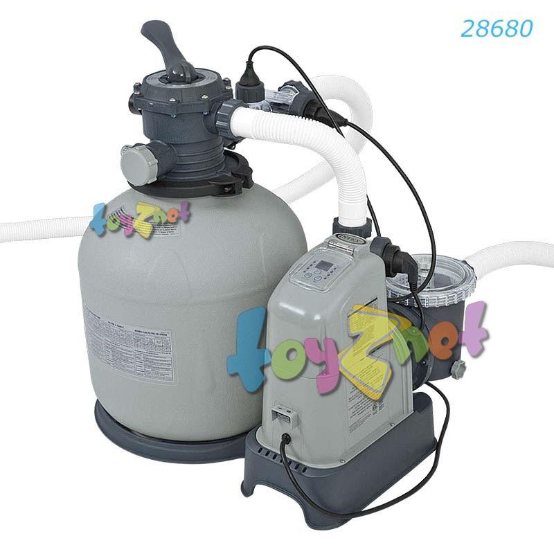 Intex เครื่องกรองน้ำระบบน้ำเกลือ-ทราย (อี.ซี.โอ.) 10,000 ลิตร/ชม. รุ่น 28680