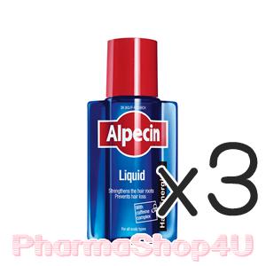 (ซื้อ3 ราคาพิเศษ) Alpecin Caffeine Liquid 200 mL คาเฟอีนเหลว ปรับสภาพผมให้ดีขึ้น ลดการหลุดร่วงของเส้นผม
