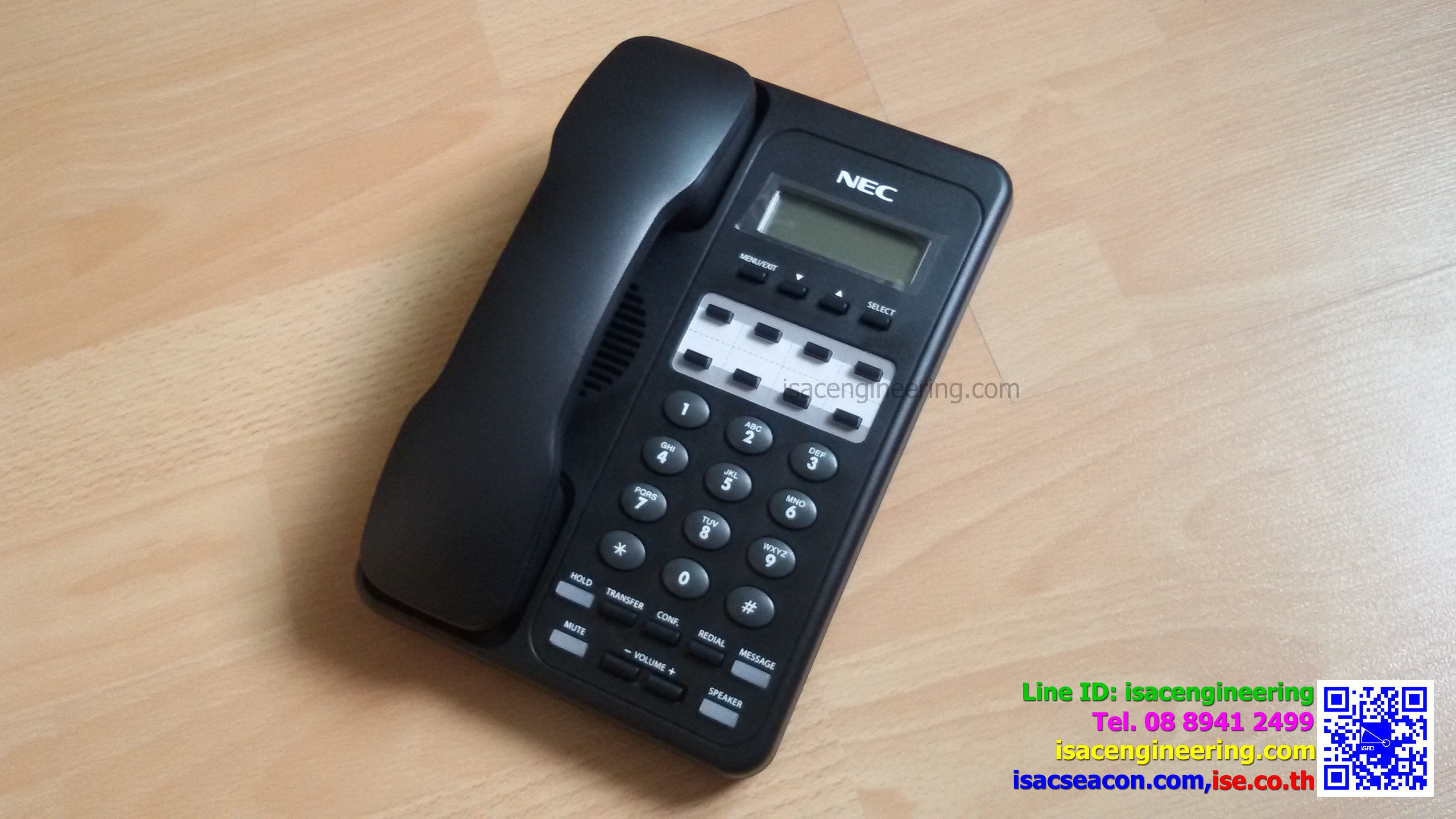 NEC ITX-1DE-1W(BK) TEL IP Phone