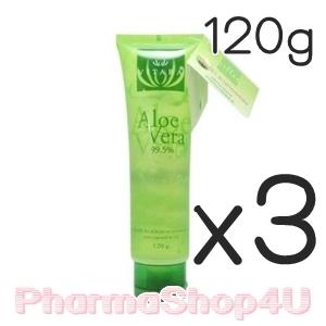 (ซื้อ3 ราคาพิเศษ) Vitara Aloe Vera Gel 99.5% 120g เจลว่านหางจระเข้เข้มข้น ลดการระคายเคือง เติมความชุ่มชื้นสำหรับผิวธรรมดา-แพ้ง่าย