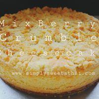 Mix Berry Crumble Cheese Cake