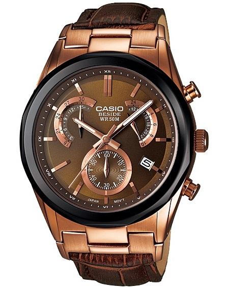 นาฬิกา คาสิโอ Casio BESIDE CHRONOGRAPH รุ่น BEM-509GL-5A