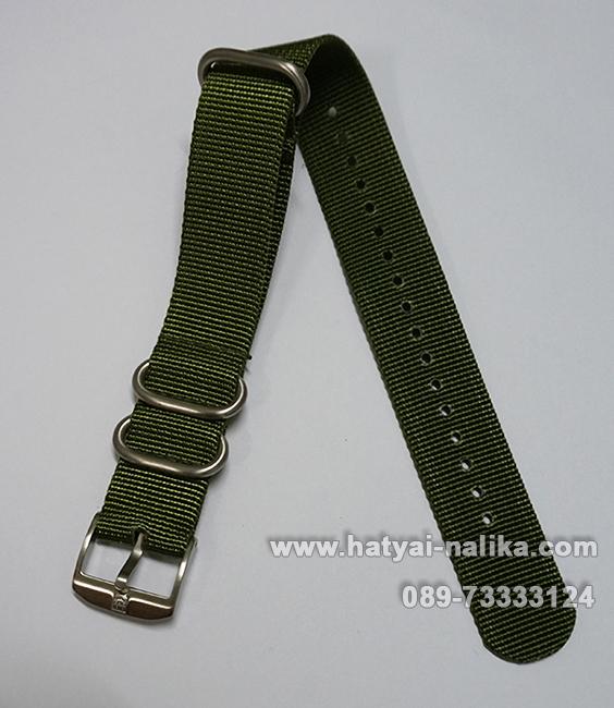 สายนาฬิกา Luminox สายผ้า สายนาโต้ สีเขียวล้วน (เขียวทหาร) ของแท้