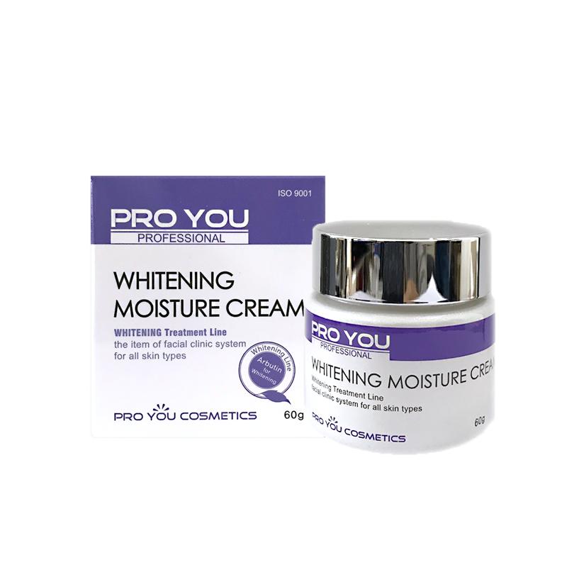 Proyou Whitening Moisture Cream 60g (ครีมบำรุงผิวหน้าที่มีประสิทธิภาพในการปรับผิวให้ขาวกระจ่างใสขึ้น และเพิ่มความชุมชื่นให้แก่ผิว)