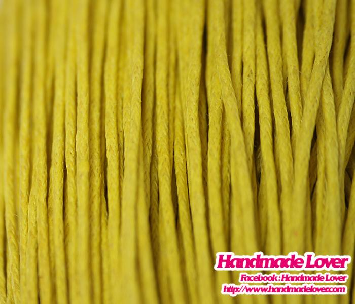 เชือกคอตตอน 1 mm. สีเหลือง (10 หลา)