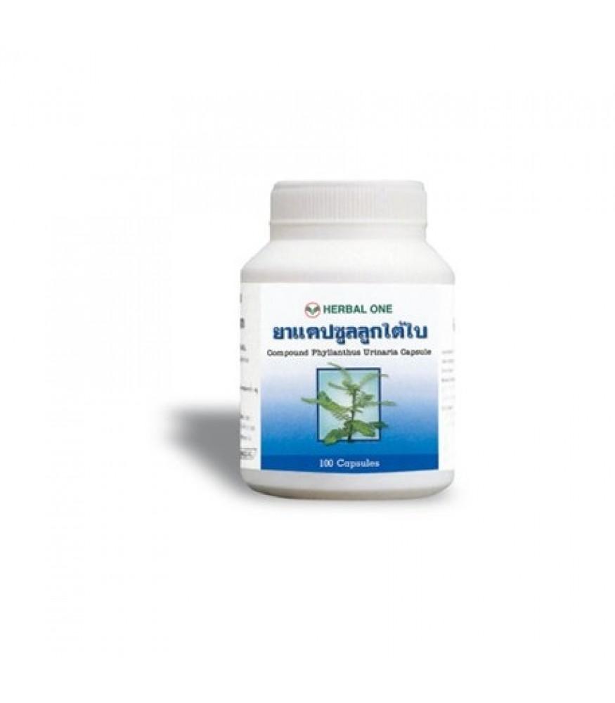 Herbal One ยาแคปซูลลูกใต้ใบ 100 tablet