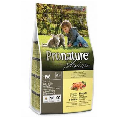 Pronature-Kitten Chicken & Sweet Potato ลูกแมว สูตรไก่และมันฝรั่งหวาน