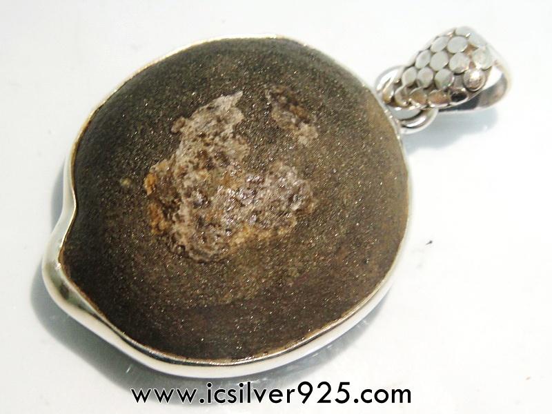 ▽หินโบจิ Boji Stone จี้เงินแท้ 925 (16.2g)