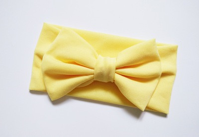 ผ้าคาดผมโบว์ใหญ่-เหลือง