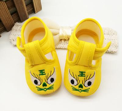 รองเท้าผ้า-ปักหน้าสัตว์น่ารัก