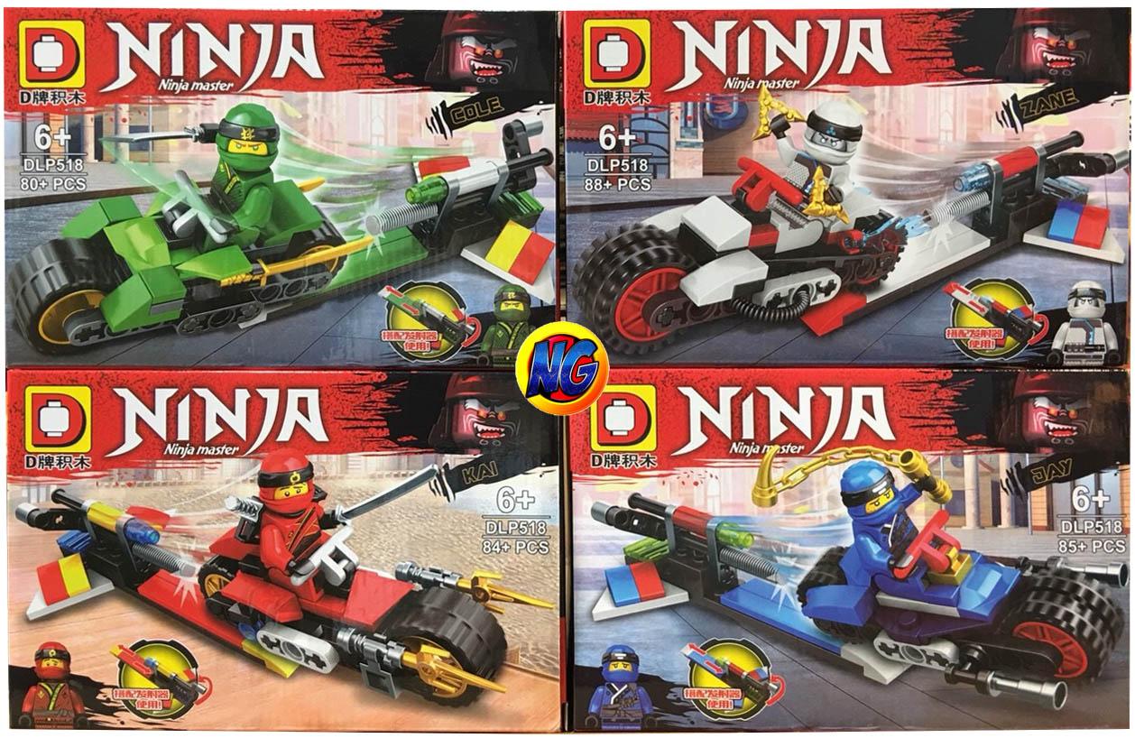 เลโก้จีนชุดเล็ก DLP 518 ชุด Ninja Go 4 กล่อง