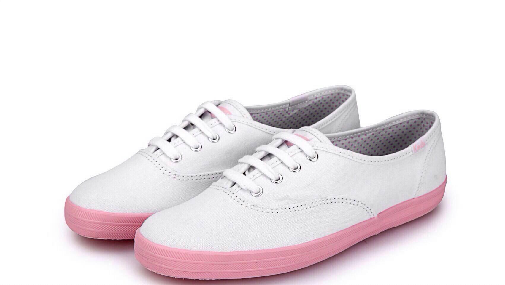 *รองเท้าkedsรุ่นใหม่ตรงส้นสีชมพู *
