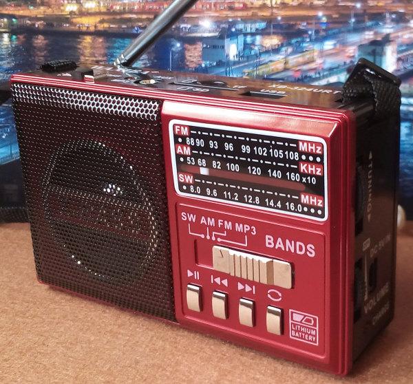 WAXIBA XB-324URT วิทยุพกพา FM AM SW MP3 สีแดง