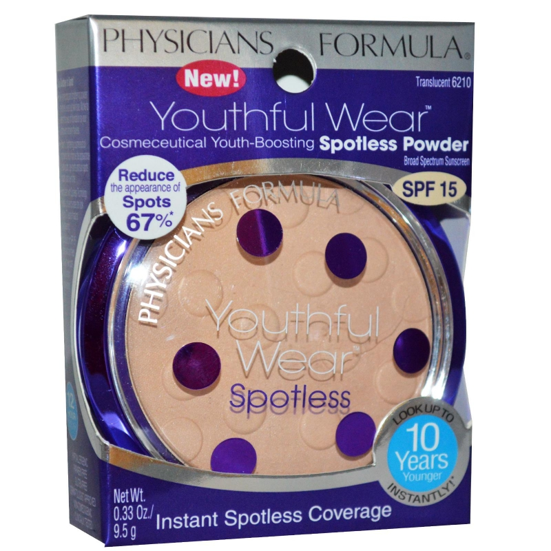 Physicians Formula Youthful Wear Spotless Powder SPF15 - Translucent