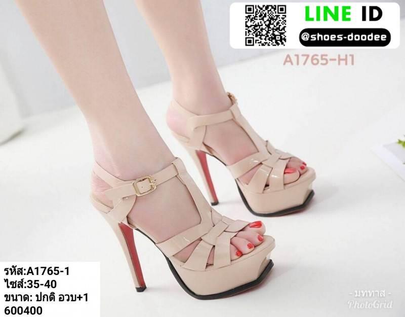 รองเท้าส้นสูง สไตล์ YSL A1765-1-PNK [สีชมพู]