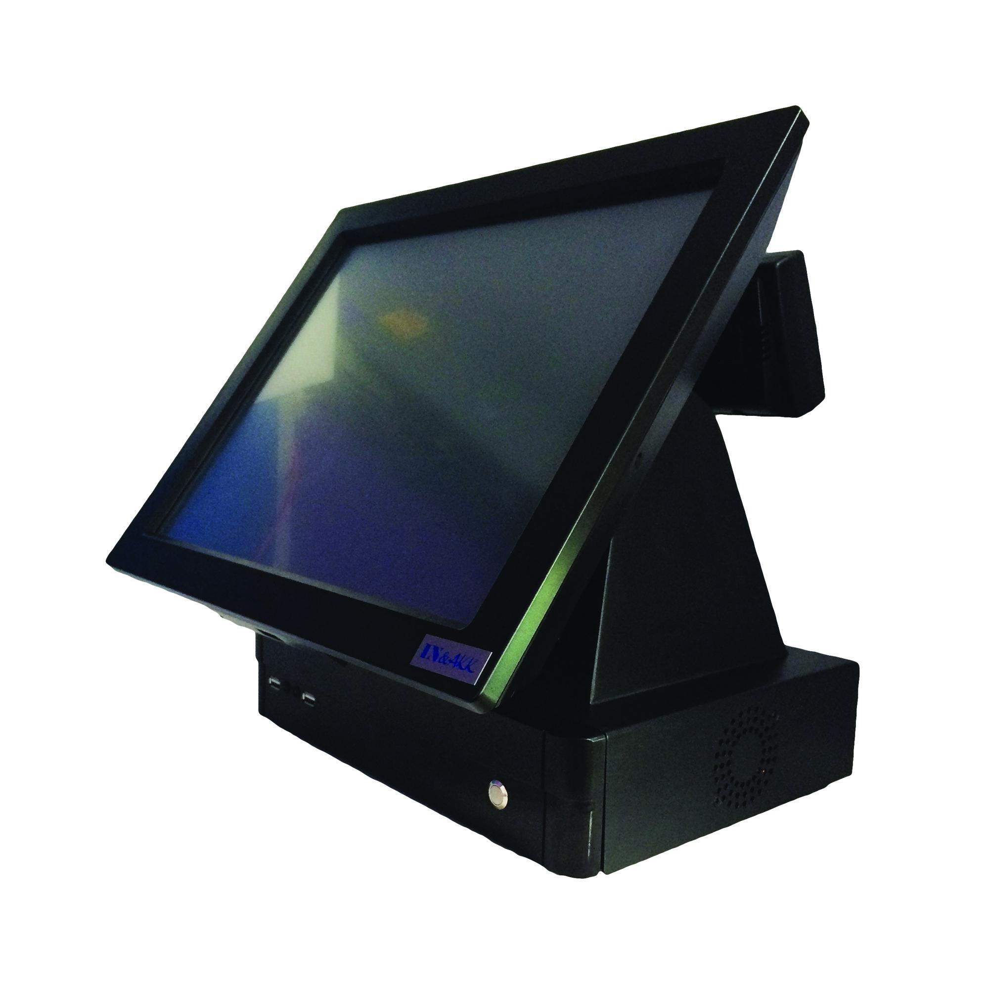 """คอมพิวเตอร์ระบบสัมผัส 15 นิ้ว Medium Duty สีดำ รุ่น IN-15ED+จอแสดงราคาลูกค้า(All in One Touchscreen POS 15"""")"""