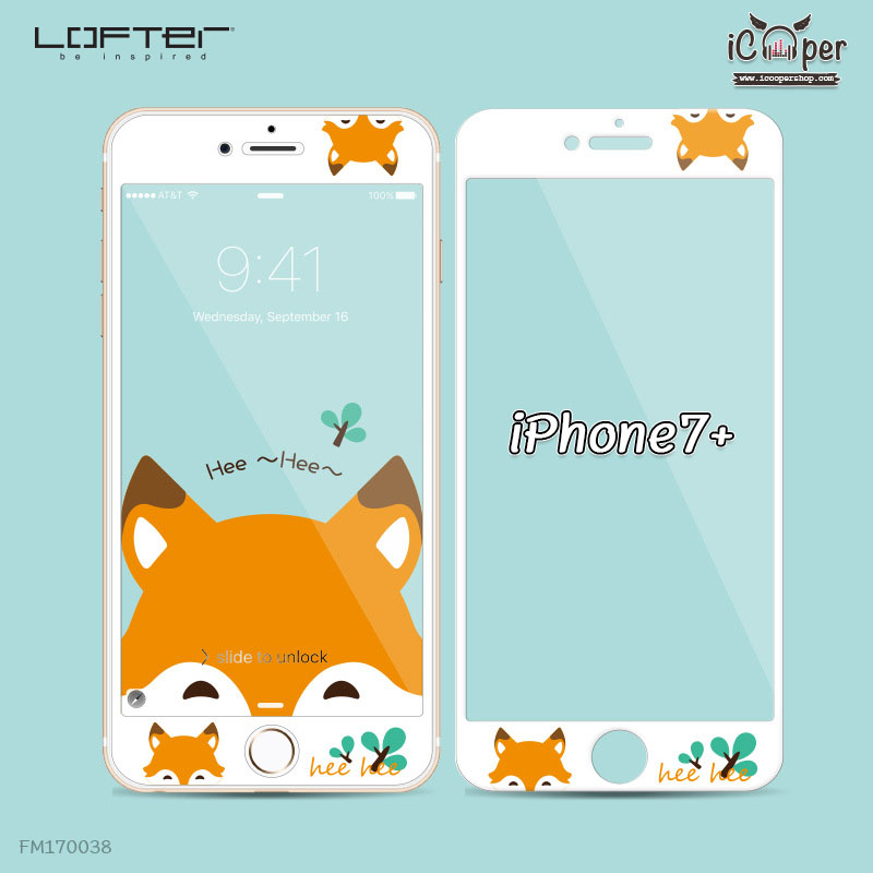 LOFTER White Pets Full Cover - Fox (iPhone7+)