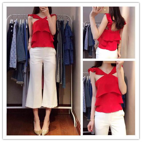 (Pre Order) ชุดเซ็ทขนาดของสินค้า - S,M ความยาว เสื้อผ้า 45cm หน้าอก88cm กางเกง (S, M): S เอว 68cm ,M เอว 70cm