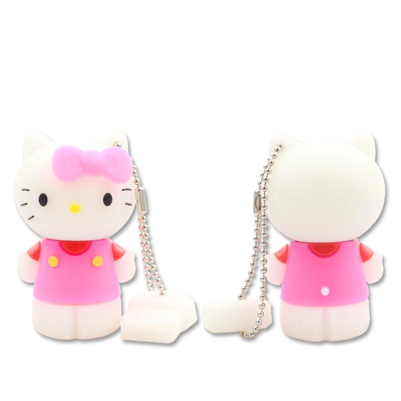 แฟลชไดร์ฟคิตตี้(Kitty) สีชมพู ความจุ 16 GB.