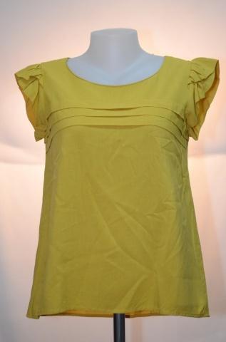 AIIZ Feminine เสื้อสีเหลืองแขนกุด