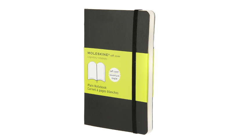 สมุดโน้ต Moleskine Soft Cover ไม่มีเส้นบรรทัด ปกอ่อน สีดำ - ขนาด A5