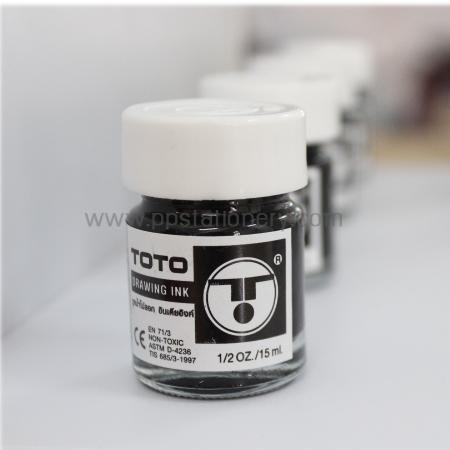 หมึก TOTO India Ink อินเดีย อิงค์ ขนาด 15ml. สีดำ