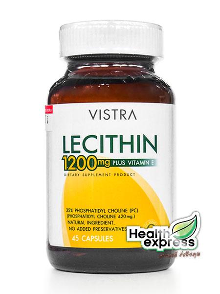 Vistra Lecithin 1200 mg. Plus Vitamin E วิสทร้า เลซิติน พลัส วิตามิน อี