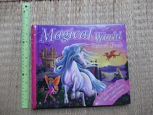 Magical World Stencil Book Hardback24 Pages ราคา 250