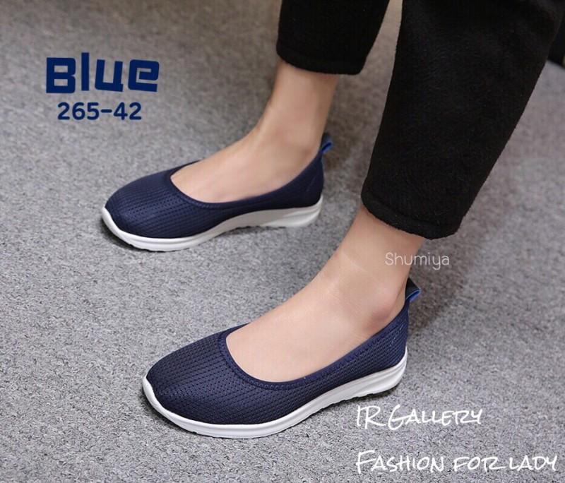 รองเท้าผ้าใบพื้นสุขภาพ 265-42-กรม (สีกรม)