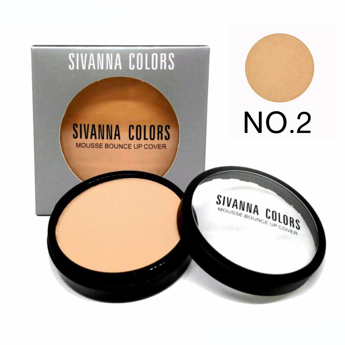 Sivanna Colors รองพื้นดินน้ำมัน Mousse bounce up cover HF144 No.02