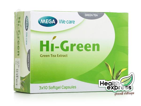Mega We Care Hi-Green เมก้า วีแคร์ ไฮกรีน บรรจุ 30 แคปซูล