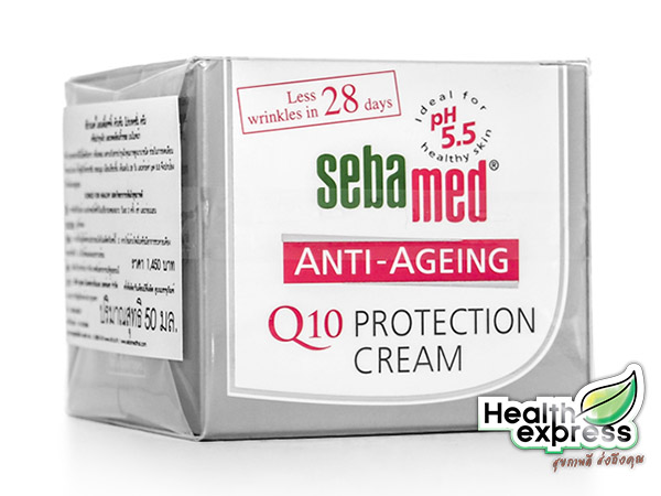 Sebamed Anti-Aging Q10 Protection Cream ซีบาเมด แอนตี้ เอจจิ้งคิวเท็น โพรเทคชั่นครีม ปริมาณสุทธิ 50 ml.