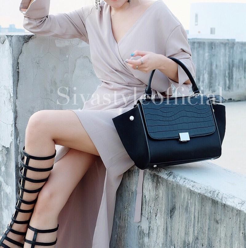 กระเป๋าสะพายแฟชั่น กระเป๋าสะพายข้างผู้หญิง Days bag [สีดำ]