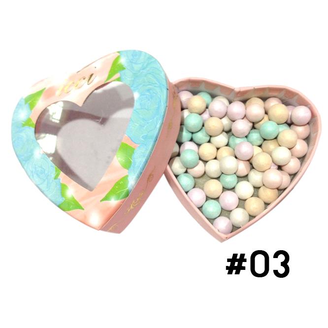 ปัดแก้มลูกบอล ICCI Magic Ball Powder รูปหัวใจ No.03