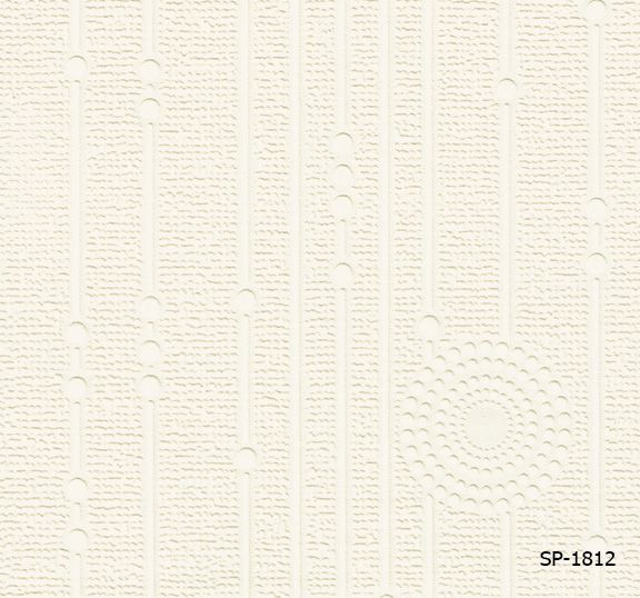 วอลเปเปอร์ลายพื้น สีขาว (วัสดุกึ่งโฟม)