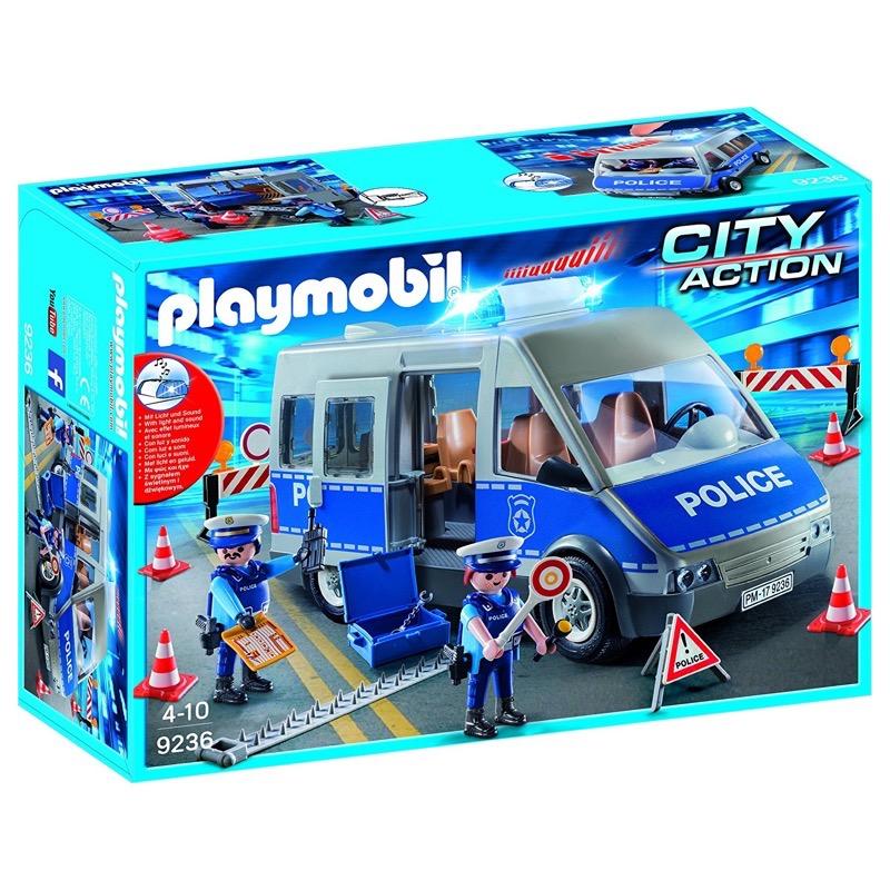 PLAYMOBIL 9236 Policemen with Van, Flashing Lights and Sound