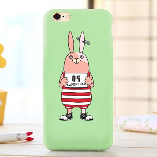 เคสยาง 1.2 มม. ลูฟี่ - One Piece / กระต่าย เคส iPhone 6 / 6S