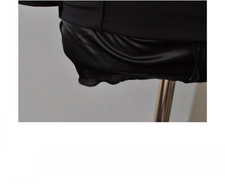 ชุดเดรสทำงานสีดำแขนยาว