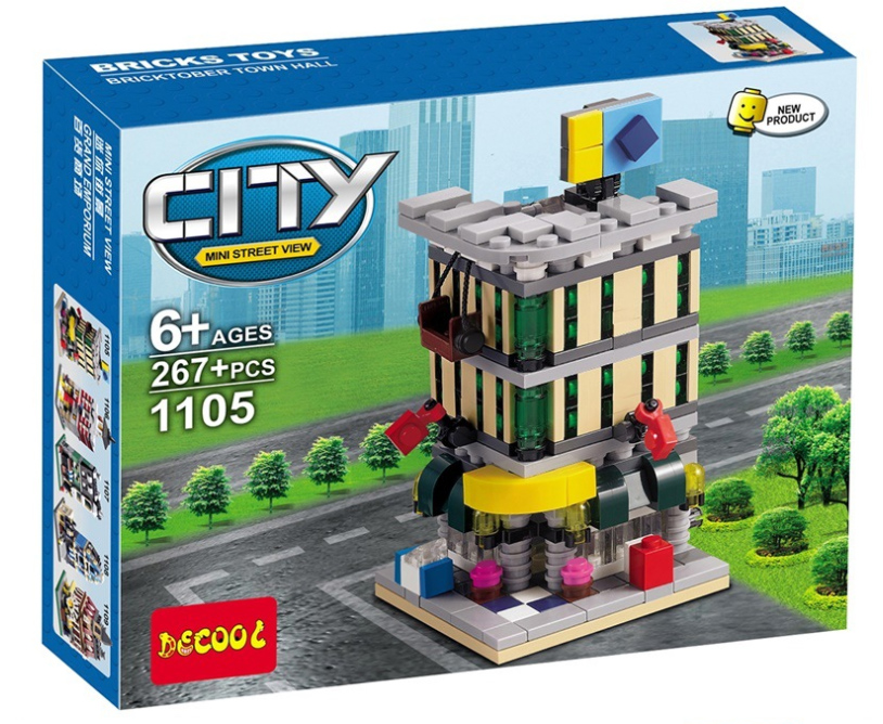1105 City ตัวต่อ Mini Street View ร้านขายของ Store ในเมืองหลวง