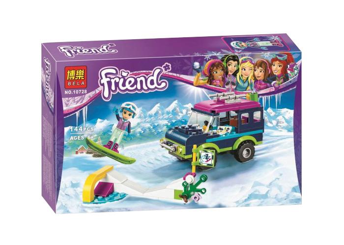 10728 Friends ชุดตัวต่อ Ski Resort กับรถ Off Road ของ Emma
