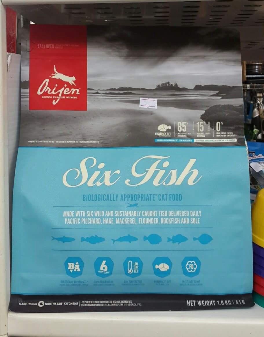 Orijen Sixfish 1.8kg 1100รวมส่ง