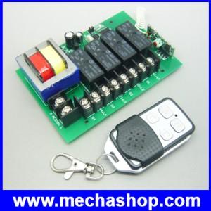 สวิทซ์รีโมท รีโมทสวิทซ์ปิดเปิด ควบคุมอุปกรณ์ไฟฟ้า4ช่อง สวิทซ์รีโมท 4 ช่อง 1ชุด AC220V 10A 4 Channel RF Wireless Remote Control Switch