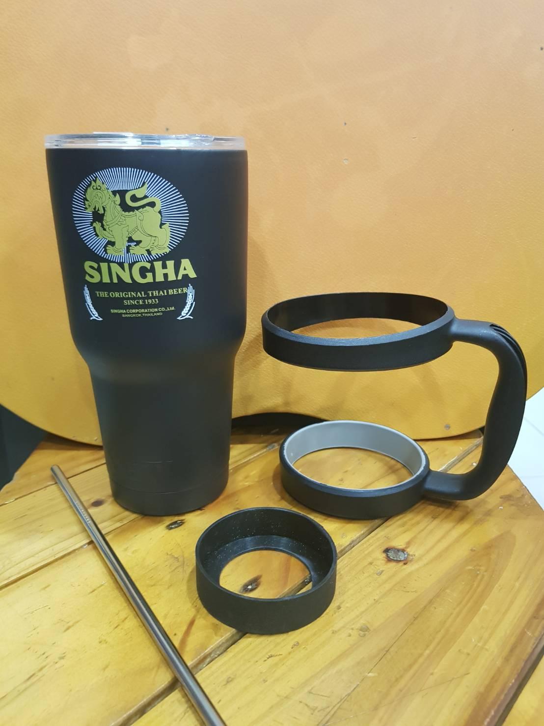 ชุดแก้วเยติ 30 ออนซ์ พื้นสีดำ โลโก้ โซดาสิงห์